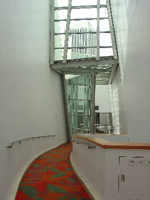 Glass Facing Hallway