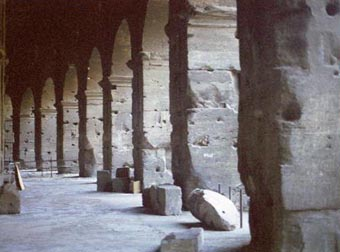 Ancient Rome Coliseum Columns