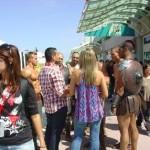 7170 Comic Con Claudia and Crowd