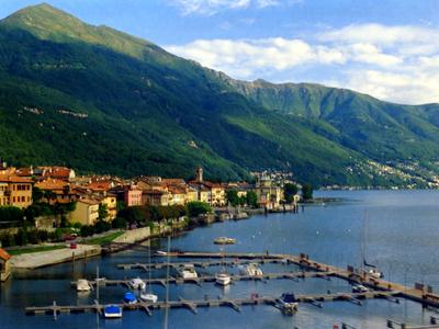 Lake Maggiore Swiss Town