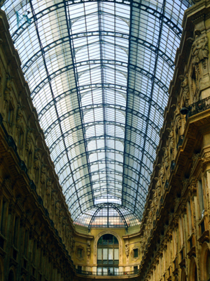 Milan Glass-domed Galleria