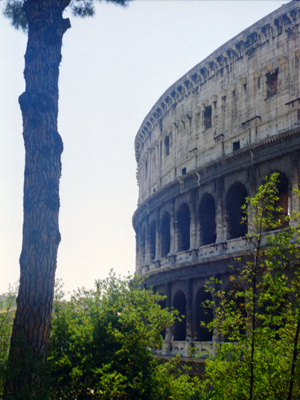Ancient Rome Coliseum Exterior