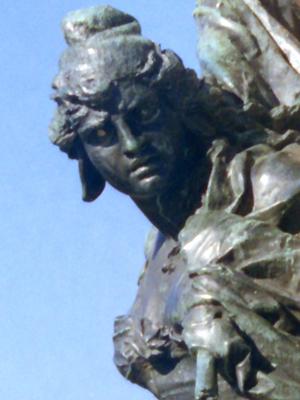 Venice Statue close crop