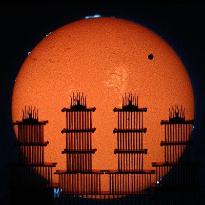 Four-Tower Venus Transit