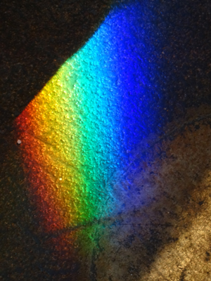 Prism Light on Stone Floor