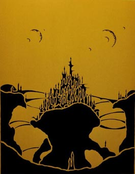 Silhouette Mushroom Rock City