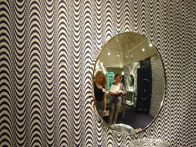 Wall Pattern and Mirror