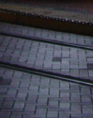 7244 Nighttime Trolley Tracks