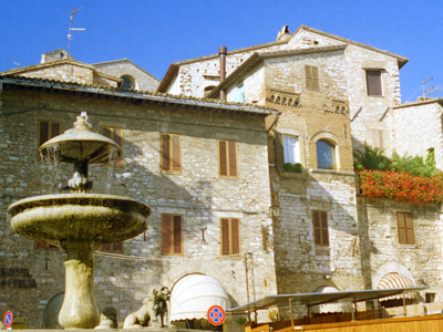 Assisi Town Square Buildings