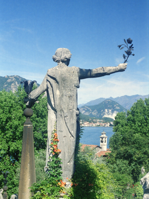 Isola Bella Statue with Branch