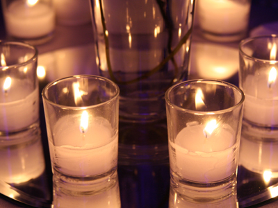 Candles Reflecting